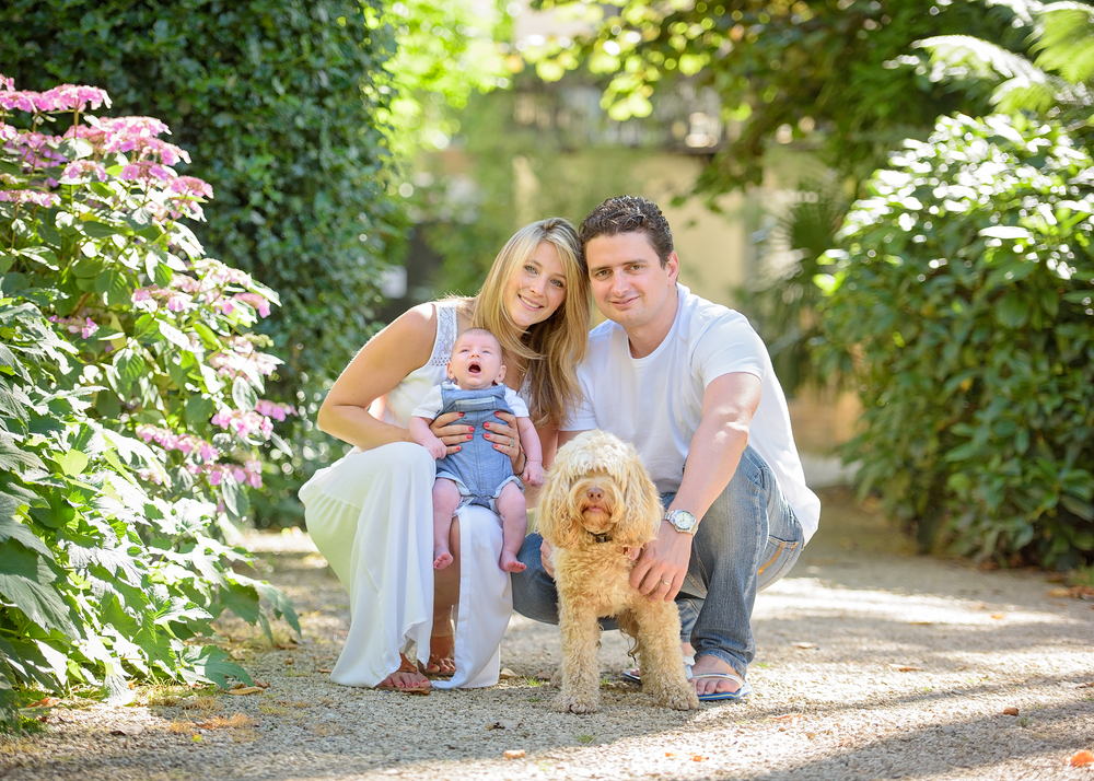 Family portraits with dogs London