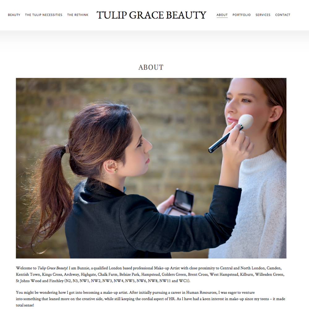 Commercial work for Tulip Grace beauty