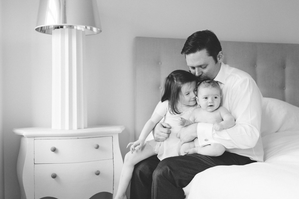 Black and white family photographers