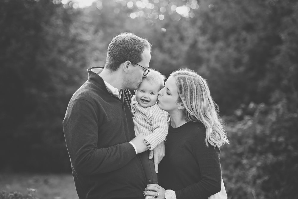 Black and white family photography Wimbledon