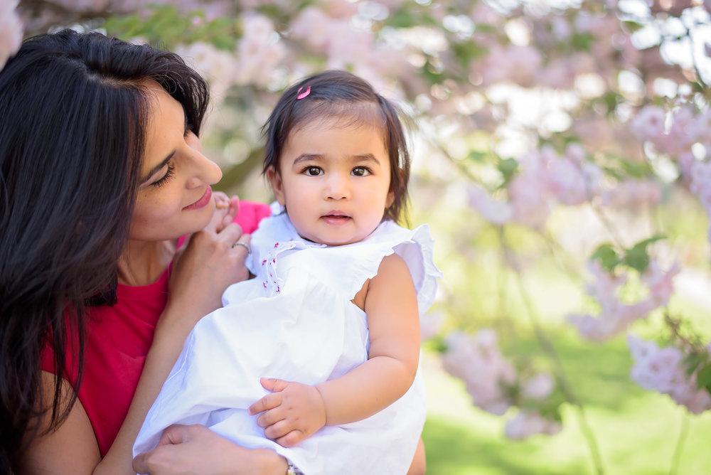 Cherry blossom family photoshoot London