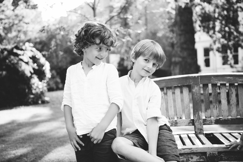 Black and white childrens' photography
