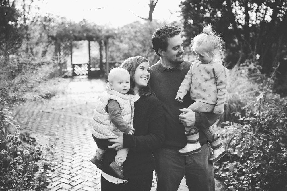 Portrait of family in Battersea Park