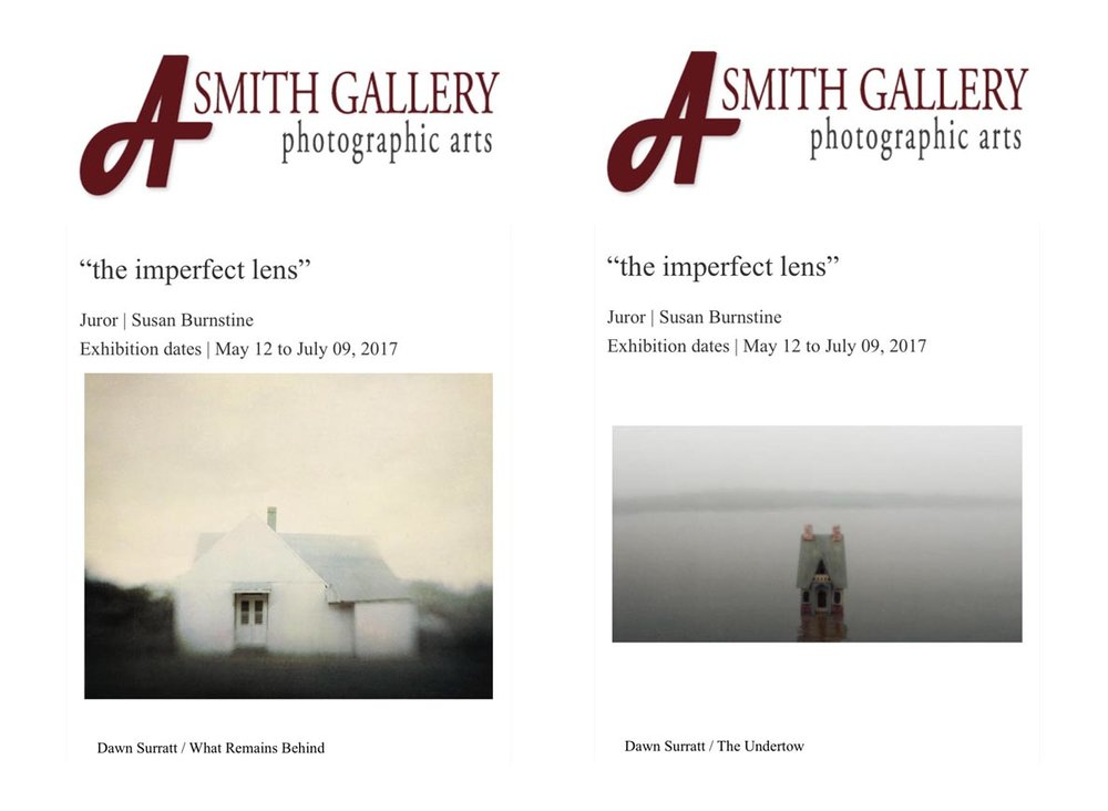 "Many thanks to Susan Burnstine and A.Smith Gallery for the opportunity to show these two images in the show, ""the imperfect lens"" which will be on view May 12-July 9th in Johnson City, Texas."