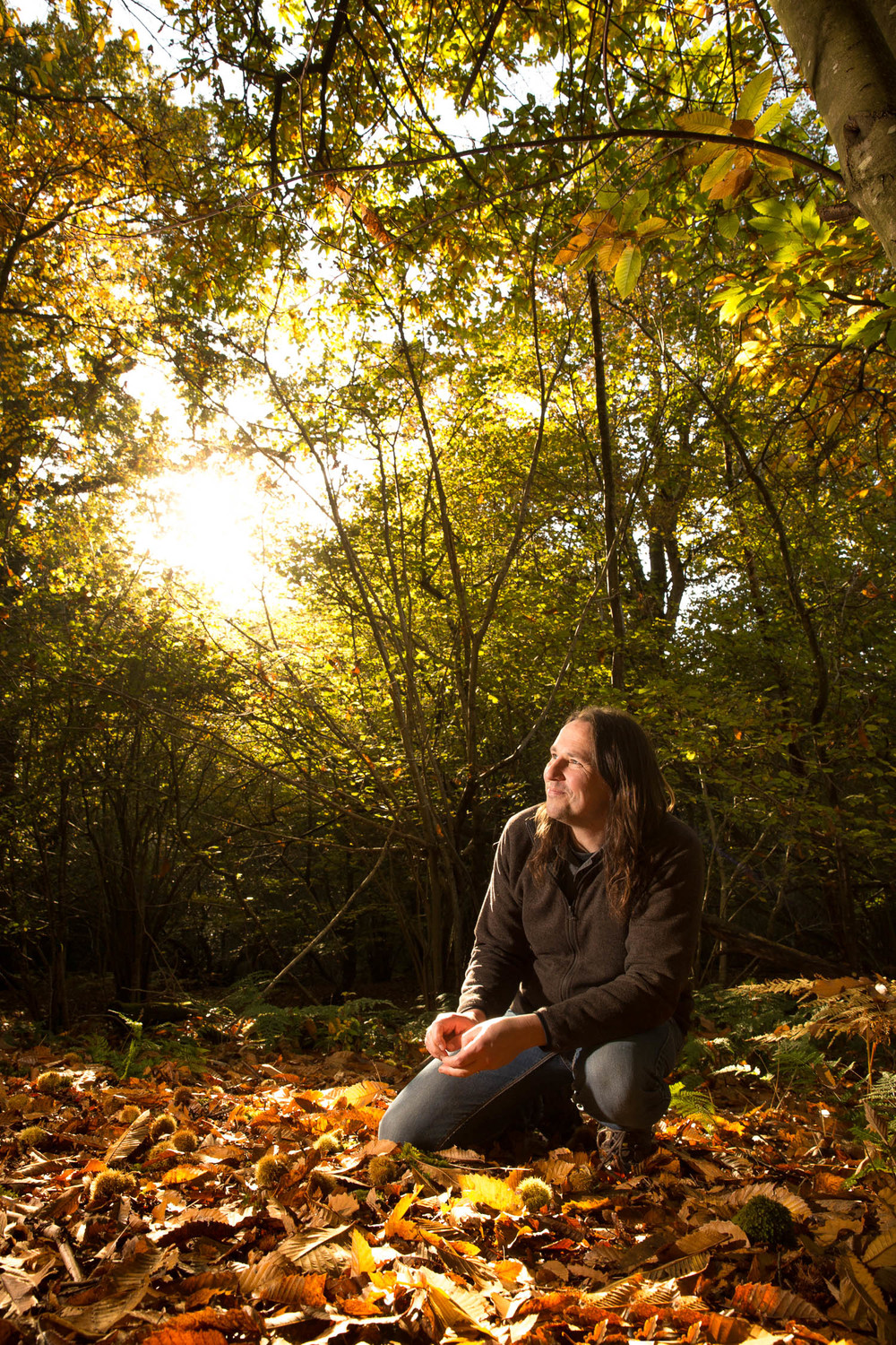Miles Irving, wild food forager and restaurant supplier. For  Hand Made Food