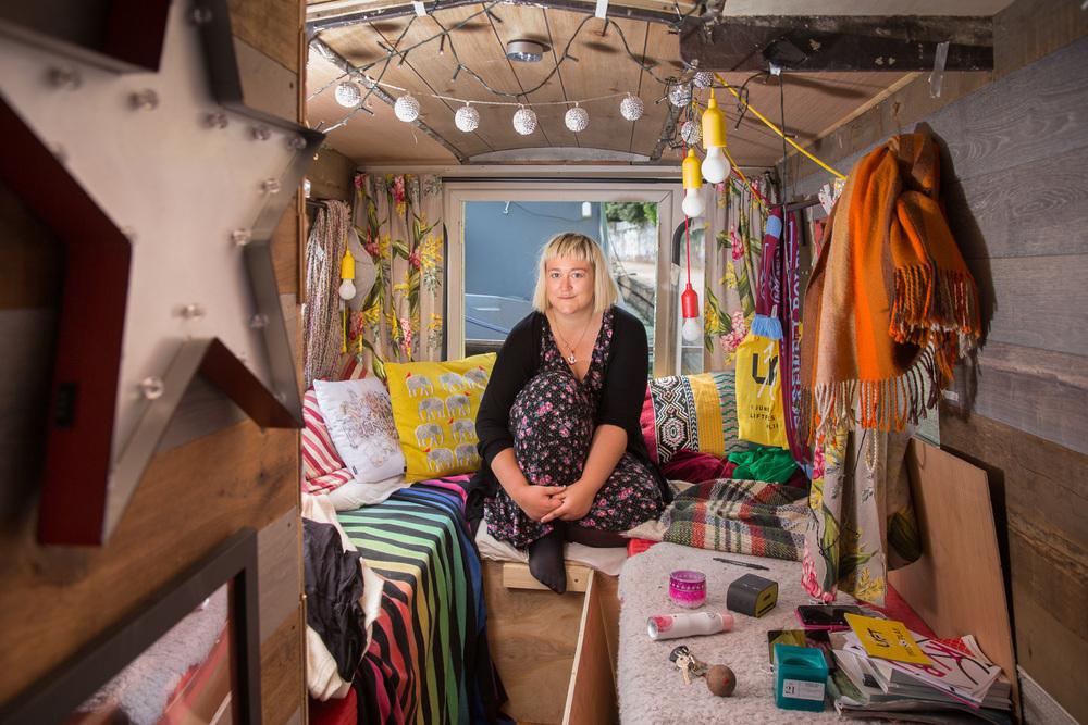 Canal boat dweller Phoebe Patey-Furguson. For  MEC Media , client:  comparethemarket.com