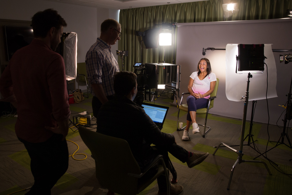 British tennis player, Heather Watson for  The Telegraph and  Ogilvy  & Mather , client:  IBM
