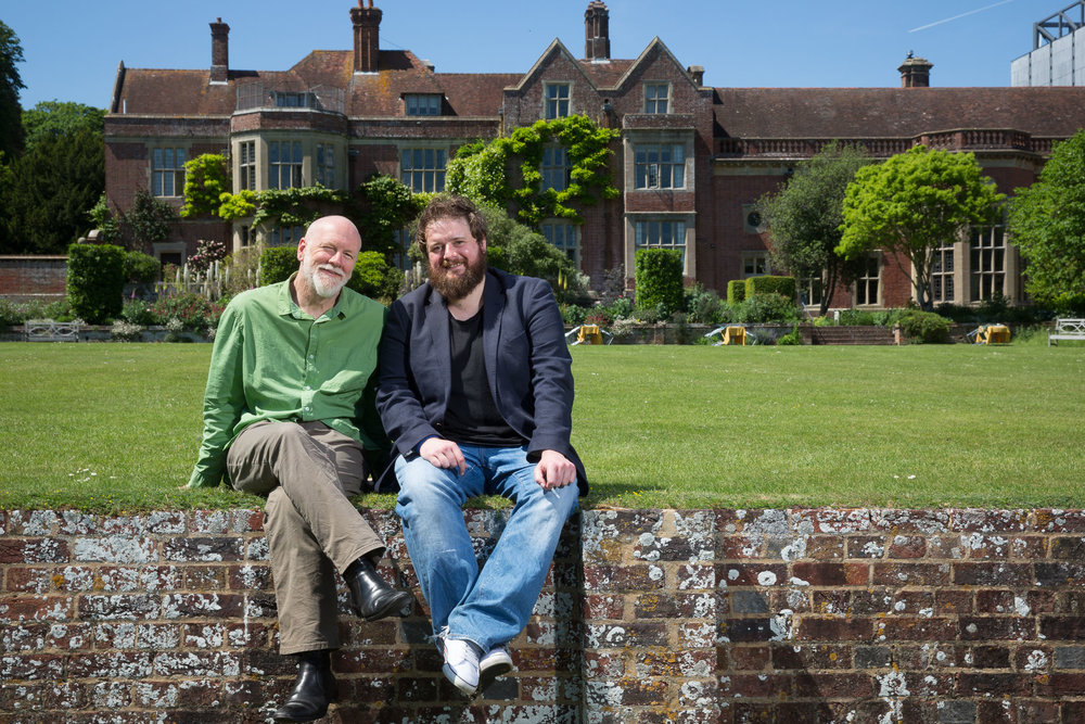 Composer Brett Dean and opera singer Allan Clayton at  Glyndebourne . For  The Times .