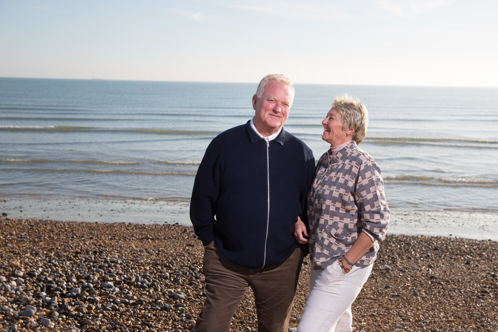 Ex news-reader Ed Mitchell with his wife Mandy. Ed lived on the streets in Brighton but is now happily married. For  The Daily Mail