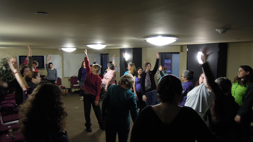 Movement practices during a retreat in Anchorage, Alaska