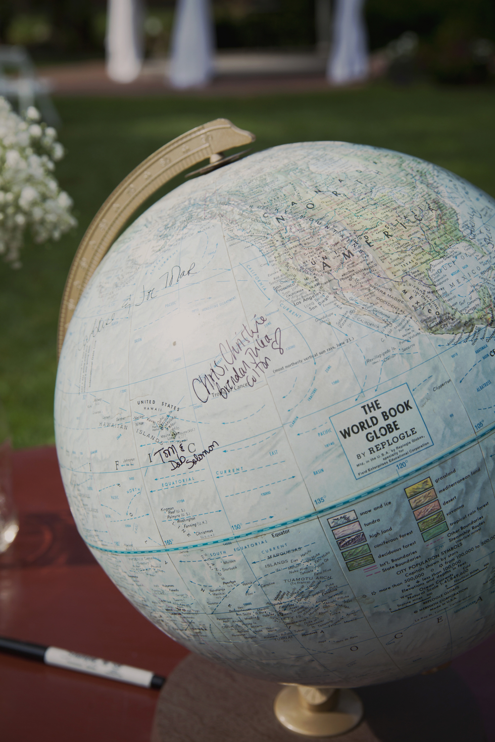 Have guests sign a globe