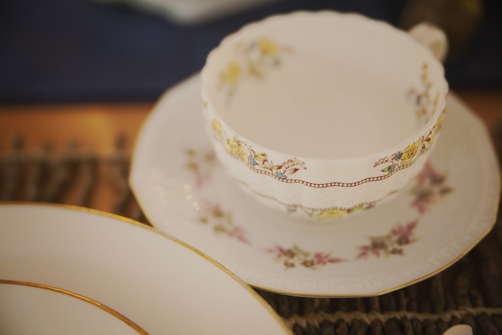 Have teacups out for guests to enjoy warm drinks on a cold wedding night