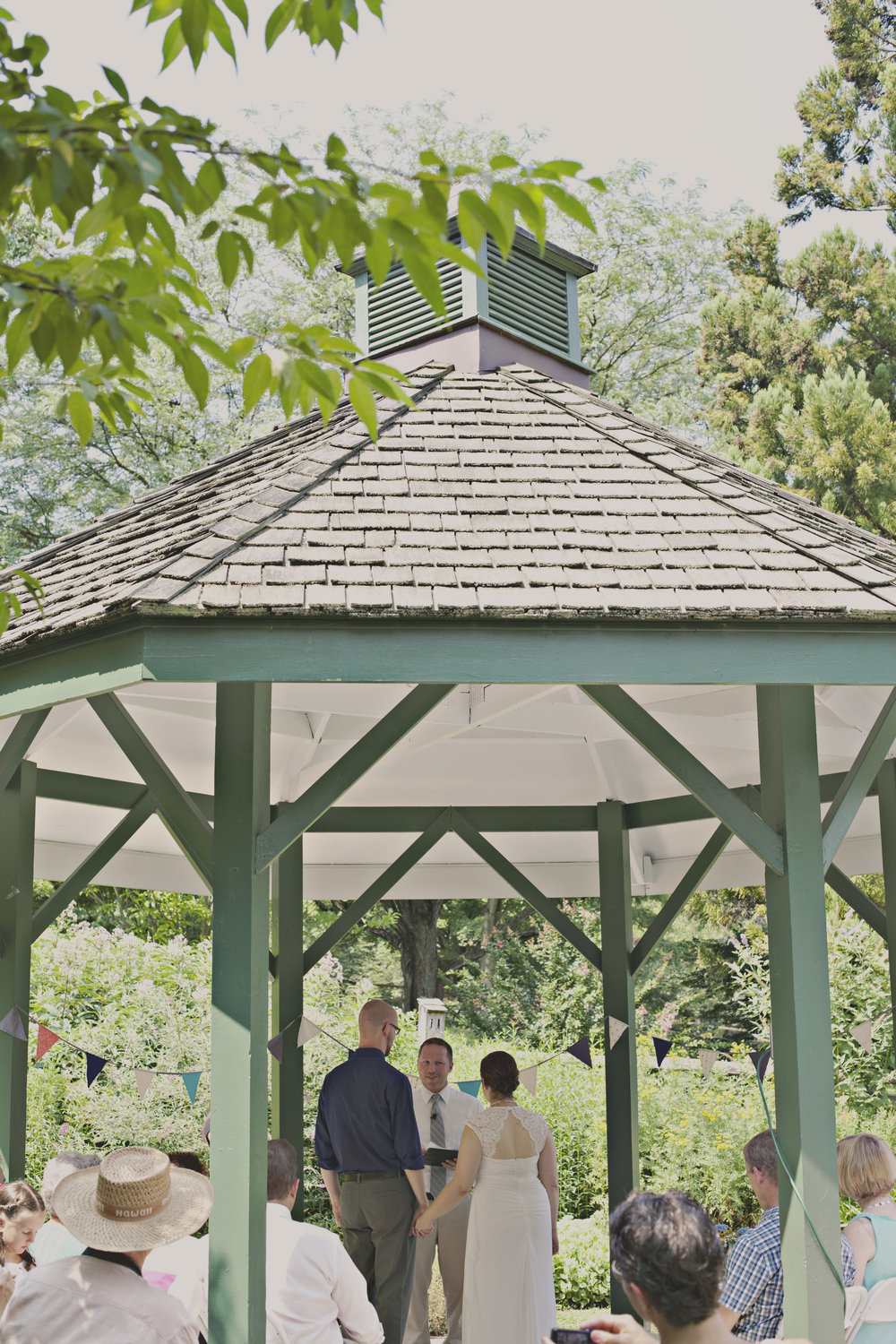 Get married at a public park- these are usually free or low cost and make lovely outdoor venues!