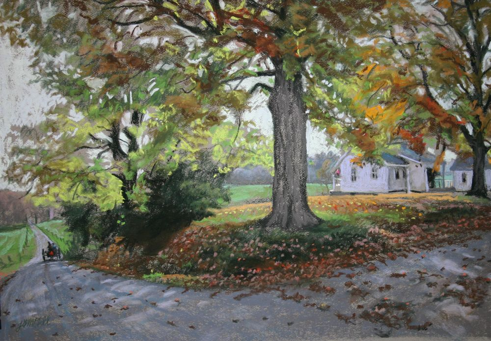 Wagner Road, pastel on paper