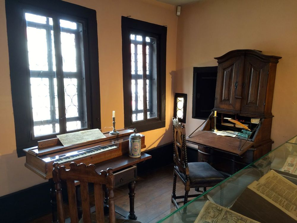 Estudio de composición de Bach