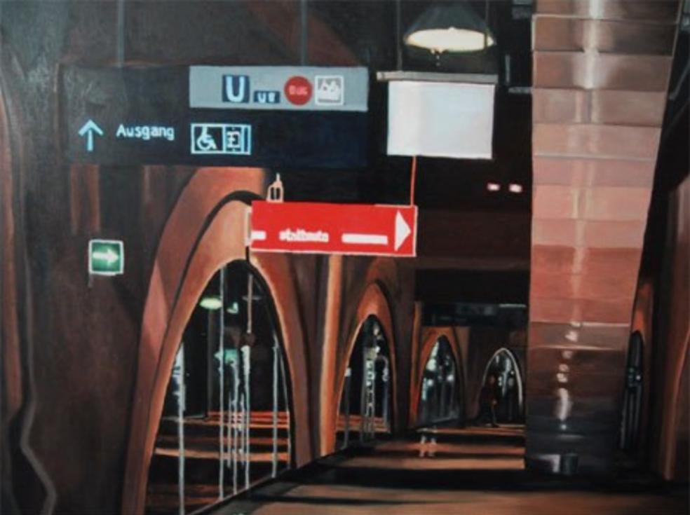 "Jannowitz Brücke, 2001, oil on canvas, 39""x47"" (100x120cm)"