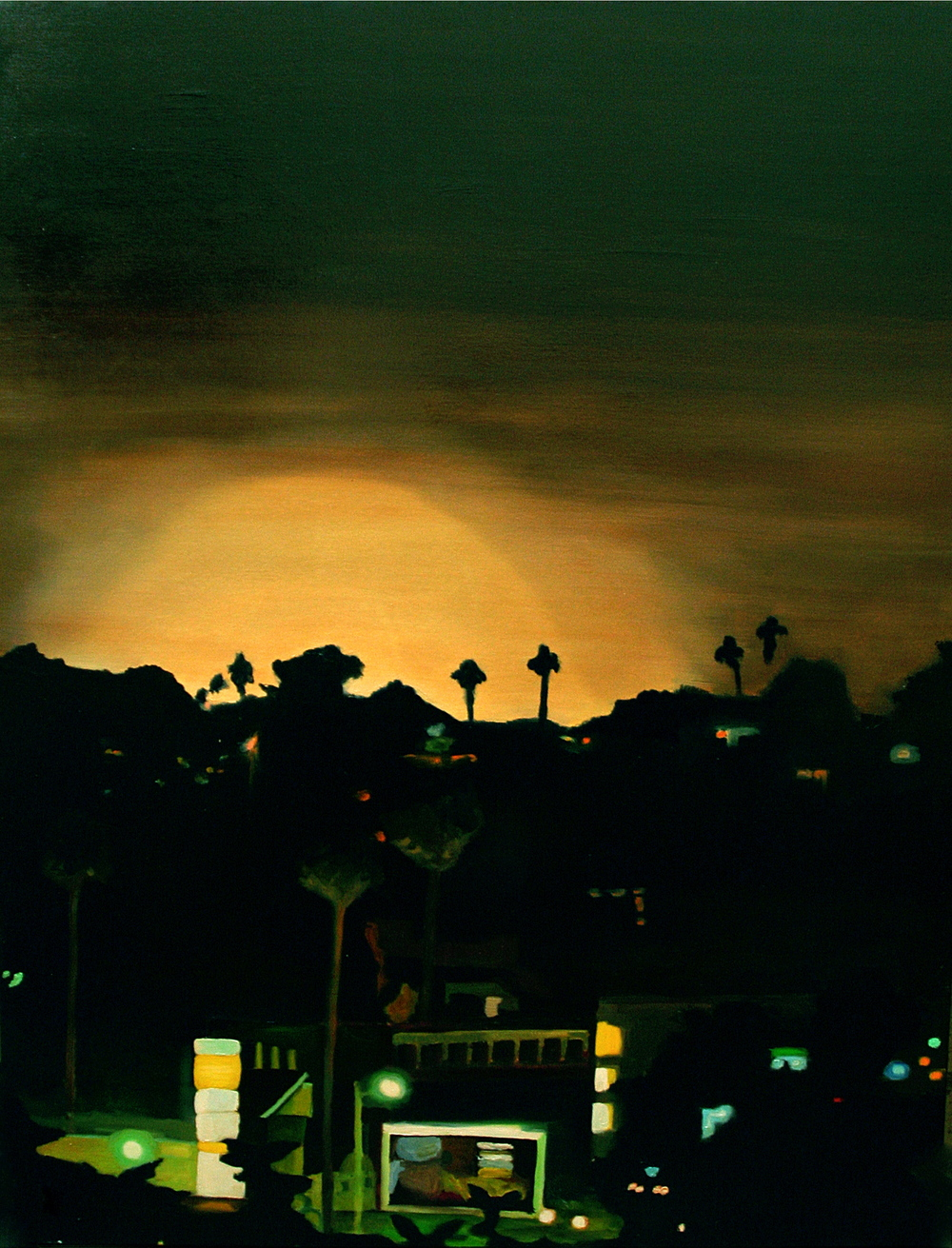 "Dodger Stadium, 2005, oil on canvas, 48""x36"" (122x91cm)"