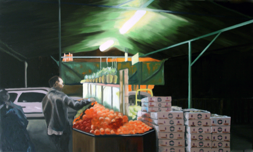 "Echo Park, 2004, oil on canvas, 48""x72"" (≈122x183cm)"