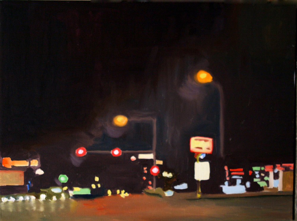"Rallys, 2005, oil on canvas,14""x19"" (≈36x48cm)"