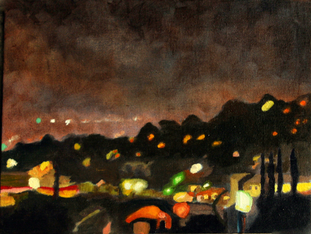 "Glow, 2005, oil on linen, 14""x19"" (≈36x48cm)"
