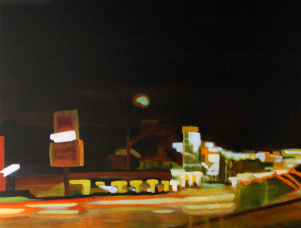 "SilverSun, 2005, oil on canvas, 36""x48"" (≈91x122cm)"