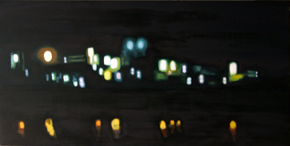 "The Pier, 2005, oil on canvas, 30""x48"" (≈76x122cm)"