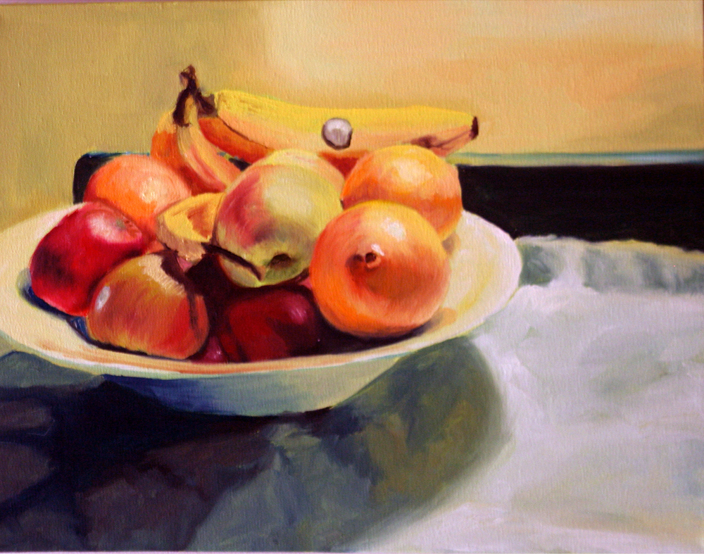 "Study for Fruit, 2004, oil on canvas, 11""x14"" (≈28x36cm)"