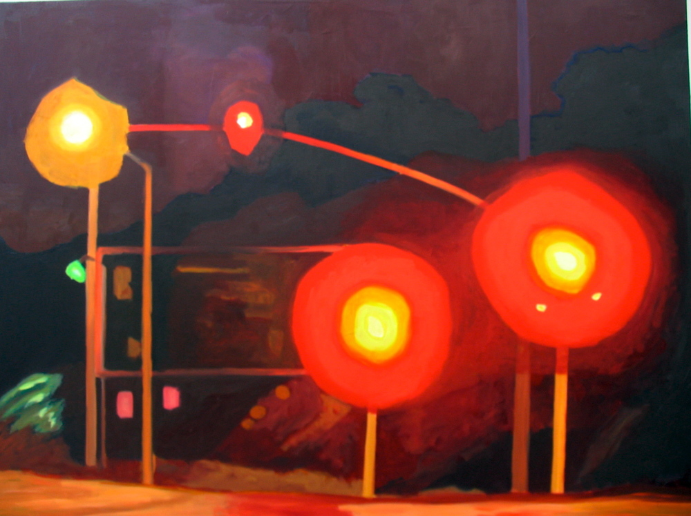 "Sunset II, 2005, oil on canvas, 36""x48"" (≈91x122cm)"