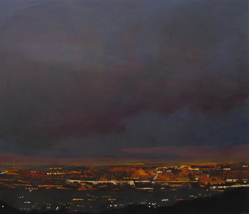 "Mulholland, 2005, oil on canvas, 49 1/2""x57 1/2"" (≈125x146cm)"