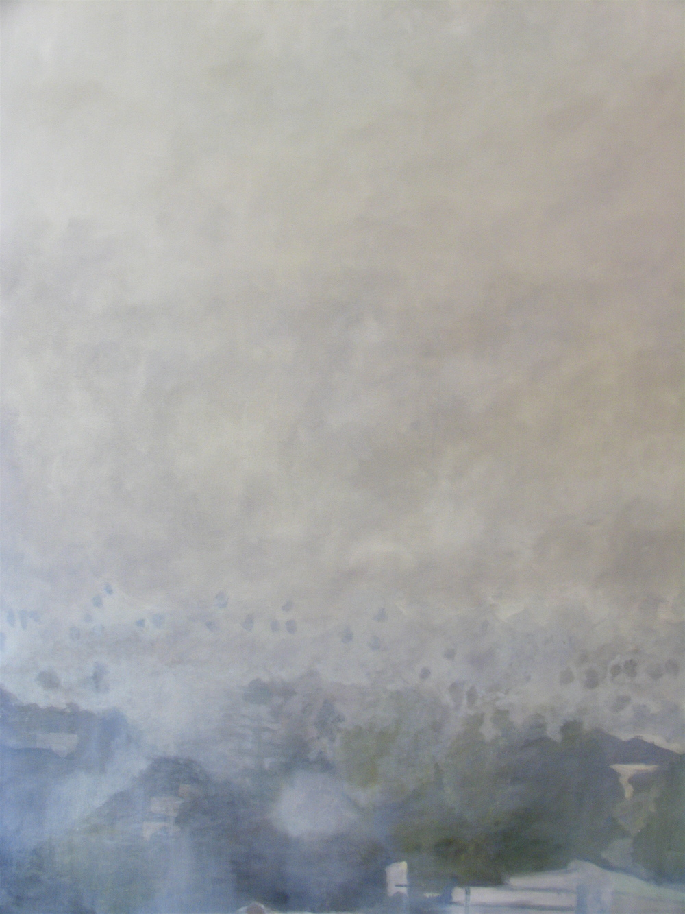 "Fog, 2005, oil on canvas, 72""x48"" (≈183x122cm)"