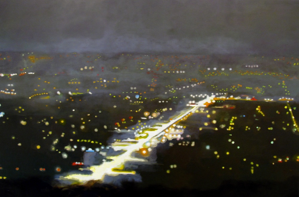 "Ventura Blvd, 2005, oil on canvas, 48""x72"" (≈122x183cm)"