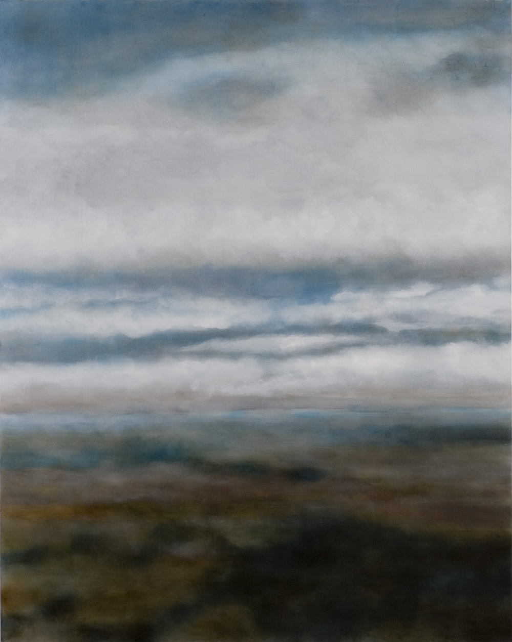 "From Here Up Top, 2007, oil + alum-silver on canvas, 60""x48"" (≈152x122cm)"