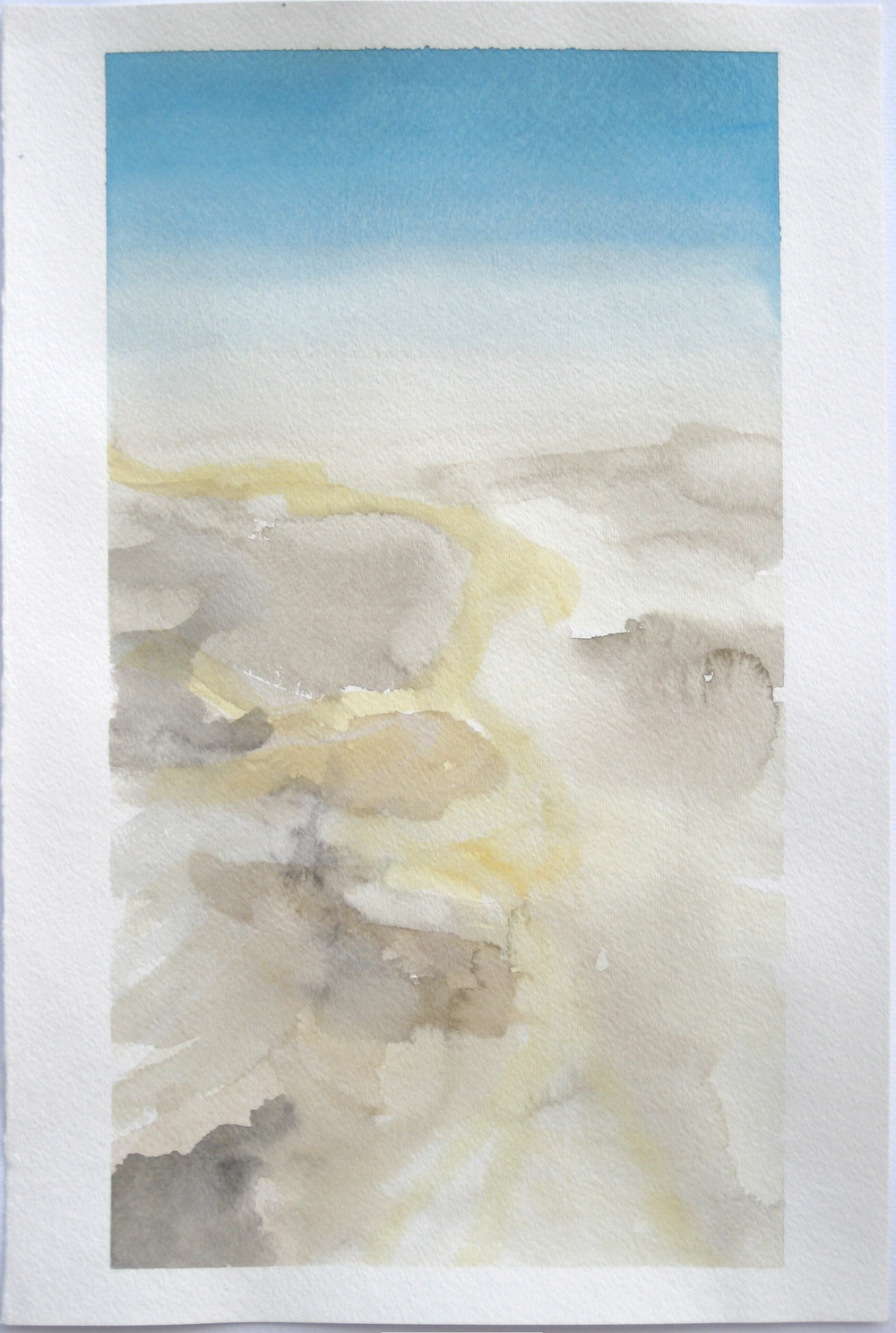 "Sky #7.4/2007, 2007, watercolor on paper paper: 18""x12""; image: 16 3/4""x9 1/8"""