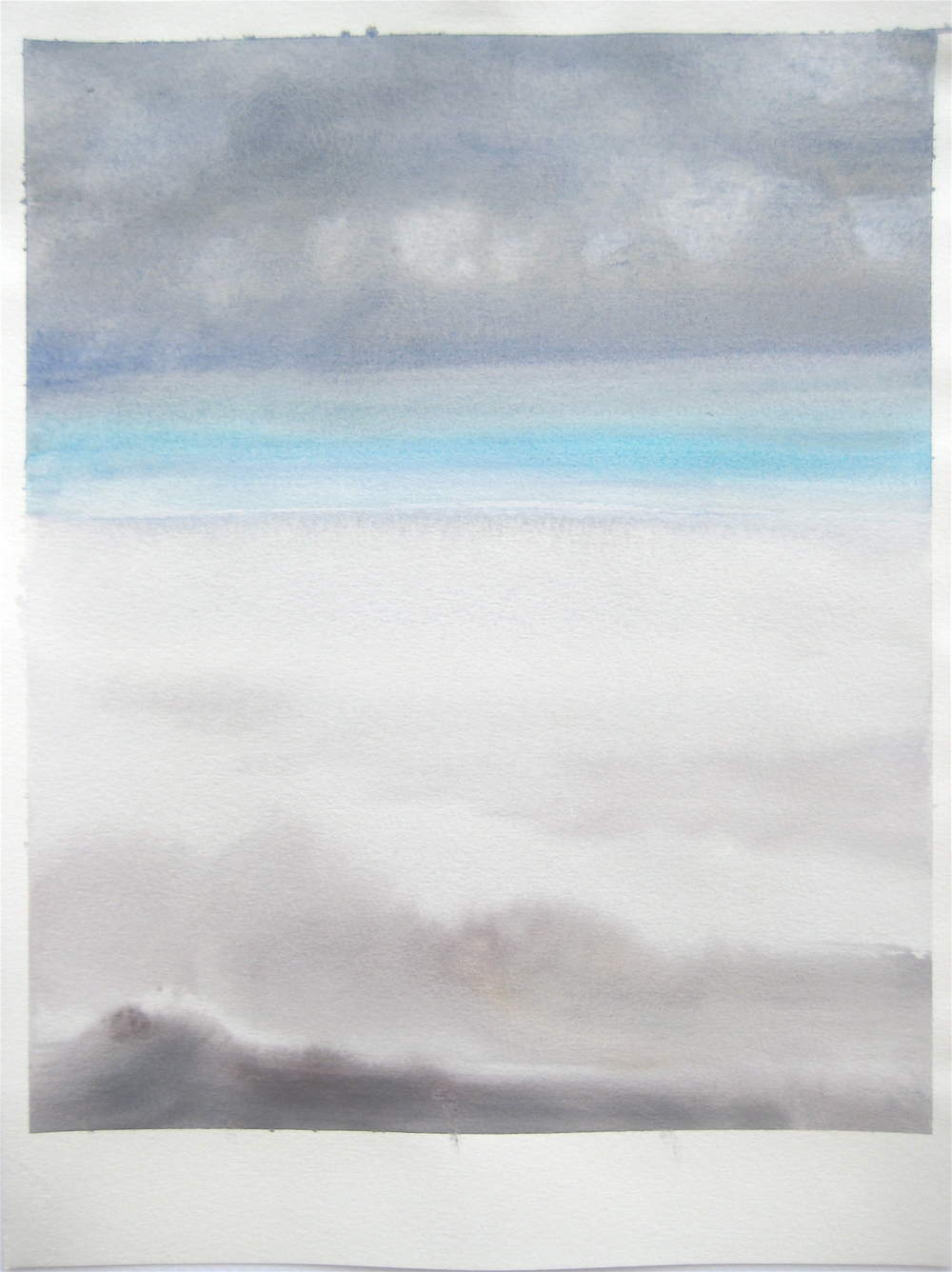 "Sky #2.3-2007, 2007, watercolor on paper paper: 12 6/8""x9 1/2""; image 11""x9"""