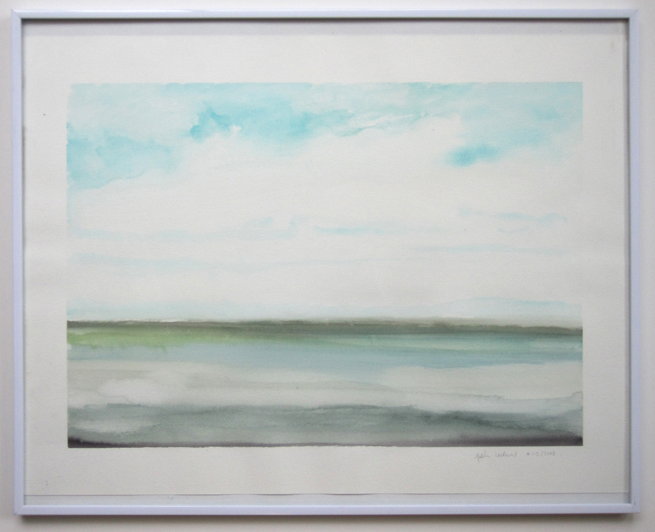 "Sea Study (#1.2.2008), 2008, watercolor on paper, 15""x20"""
