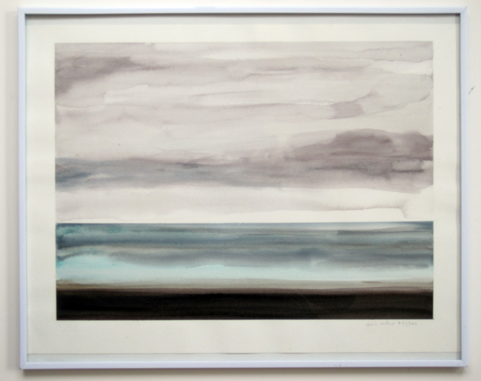 "Sea Study (#2.1.2008), 2008,  watercolor on paper, 15""x20"""