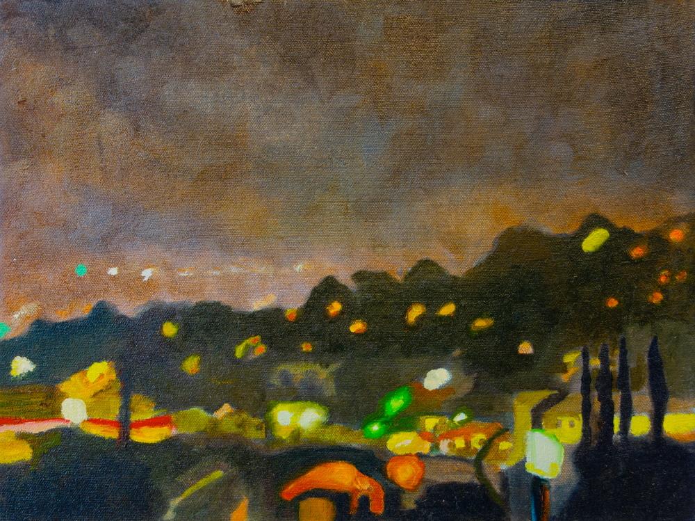 """Glow, 2005, oil on linen, 14""""x19"""""""