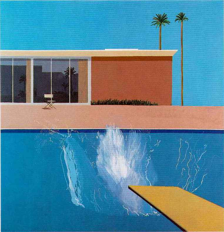 "David Hockney, ""A Bigger Splash"", 1967, Acrylic on Canvas, 95.5""x96"""