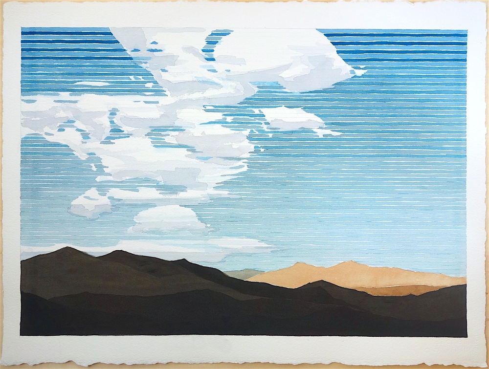 "Mojave #4, 2017. watercolor on paper, 22""x30"""