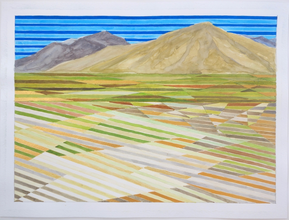 "Mojave #2, 2015. watercolor on paper, 15""x20"""