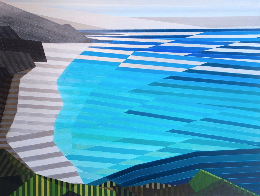 """Bis Sur #3, 2015. Acrylic and Silver on Canvas, 36""""x48"""" (91x123cm)"""