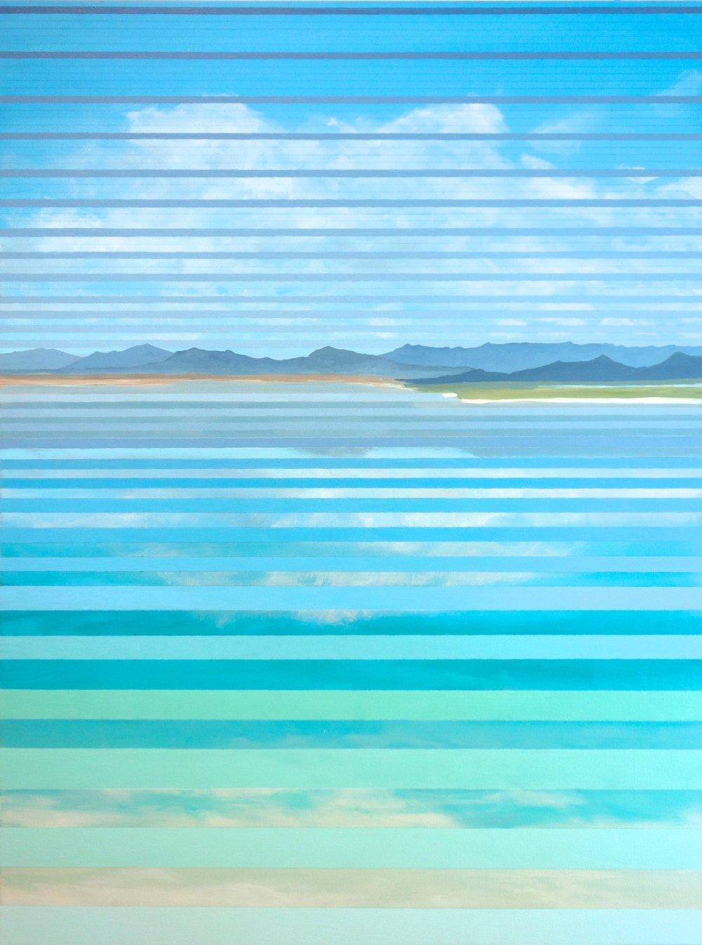 """Paoha Island, 2016. Oil and Acrylic on Canvas. 48""""x36"""""""
