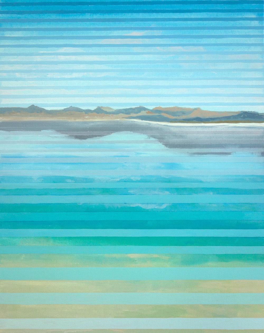 """Paoha Island Study, 2016. Oil and Acrylic on Canvas. 20""""x16"""" (51x41cm)"""