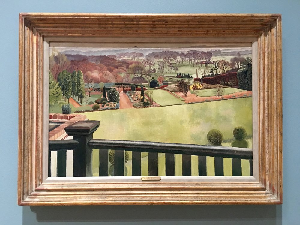"Sir Stanley Spencer, ""Oxfordshire Landscape"" 1939, Oil on Panel"