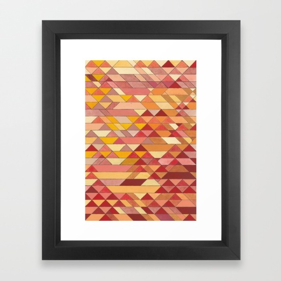 Triangles 4 Framed Art Print