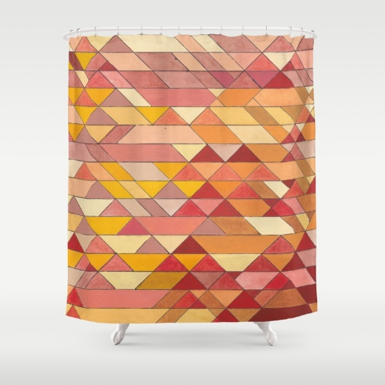 Triangles 4 Shower Curtain