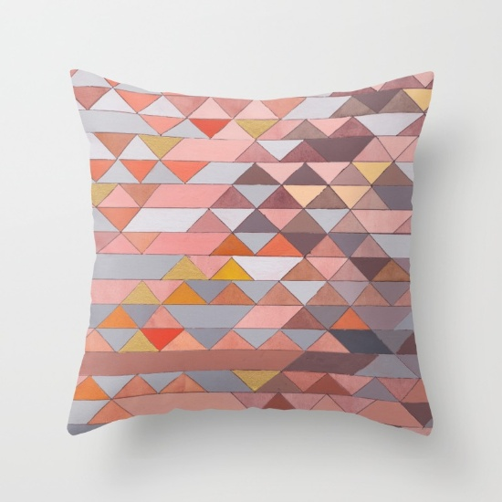 Triangles 5 Square Pillow