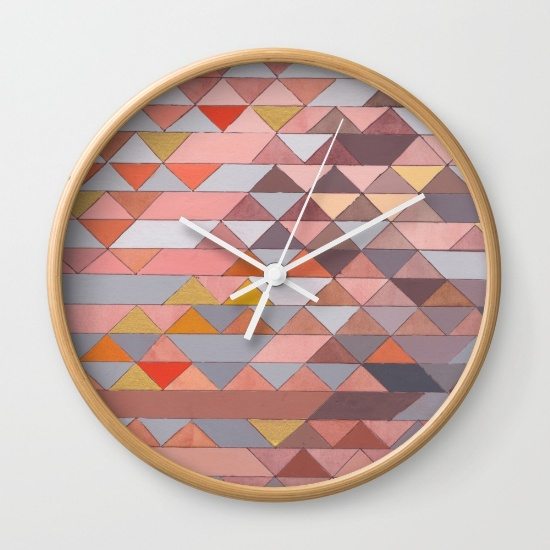 Triangles 5 Wall Clock