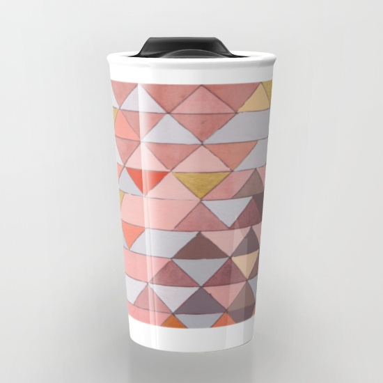 Triangles 5 Travel Mug