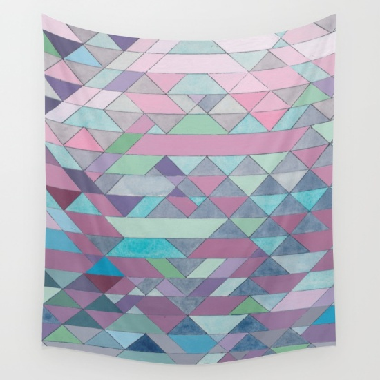 Triangles 3 Wall Tapestry